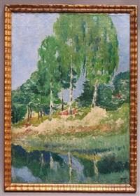 landschaft mit birken by albinmüller