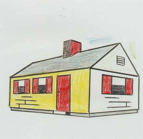 House with gray roof by Roy Lichtenstein on artnet
