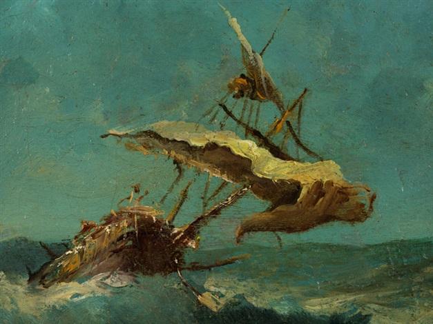 Segelschiffe auf dem meer  SEGELSCHIFFE AUF STÜRMISCHEM MEER by Francesco Guardi on artnet