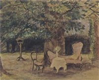 a view of a garden by johan buning