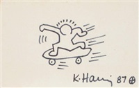 the skateboarder by keith haring