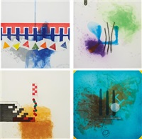 label 9-12 series (set of 4) by richard tuttle