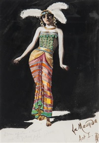 chinese costume designs (8 works) by percy anderson