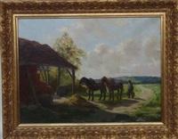 l'arrivée à la ferme by charles henri quinton