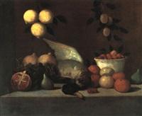 stilleben mit früchten und einer ente by alessandro de loarte