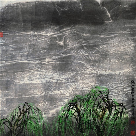 满江春水 landscape by zhou shaohua