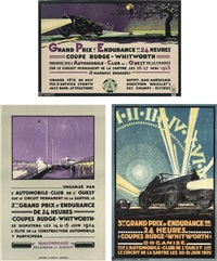 24 heures du mans race (set of 3) by h.a. volodimer