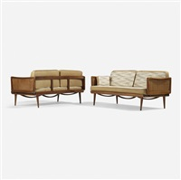 daybeds model fd 451, pair by peter hvidt