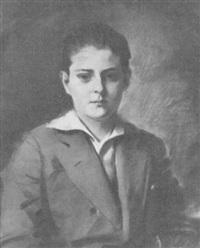 portrait of a young man by erik guide haupt