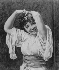 femme avec un costume oriental by pierre paul léon glaize