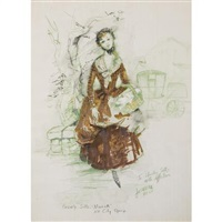 costume design for beverly sills as manon in massenet's manon, new york city opera by jose varona