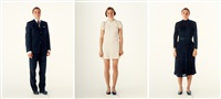 my mother's wedding dress, my father's wedding suit, my mother's funeral dress (tripdtych) by elina brotherus