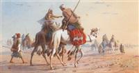 caravane dans le désert by joseph austin benwell