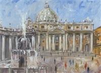 petersplatz in rom by hans olde