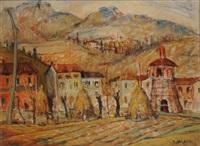 paesaggio con case by bruno milano