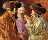three rabbis of jerusalem by isaac snowman