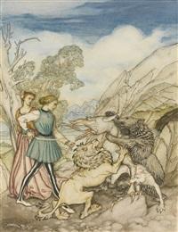 cesarino and the dragon by arthur rackham