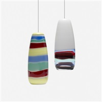 pendant lamps (pair) by massimo vignelli