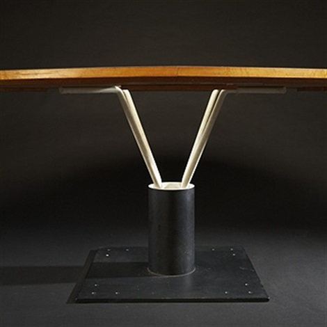 custom dining table from the weese residence chicago by harry weese