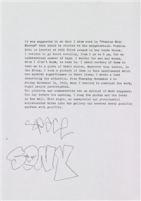 the bronx (portfolio of 9 w/ text) by sophie calle