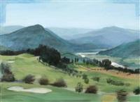 le green dans les montagnes by férit iscan