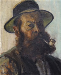 homme à la pipe by albert nyfeler