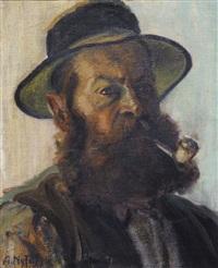 homme à la pipe by albert nyfeler