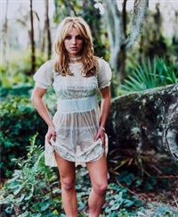 jennifer lopez, nyc; britney spears, florida, 2001 (2 works) by mark seliger