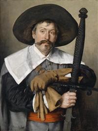ein landsknecht mit bihänder (kostümstudie) by marie müller