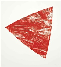 untitled (red state i) (from purple red gray orange series) by ellsworth kelly