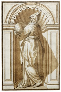 twelve drawings after the series of philosophers painted by paolo veronese, battista franco, tintoretto and others for the biblioteca marciana, venice by antonio maria zanetti