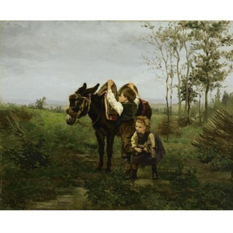 the mule ride by charles edouard frère
