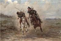 a cavalry skirmish by viktor vinkentevich mazurovsky