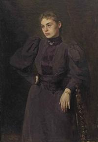 portrait of frederika wilhelmina van wulfften palthe-broese van groenou (1875-1960) by floris arntzenius