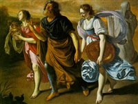 lot and his daughters by orazio gentileschi