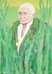 portrait de jean genet by beauford delaney