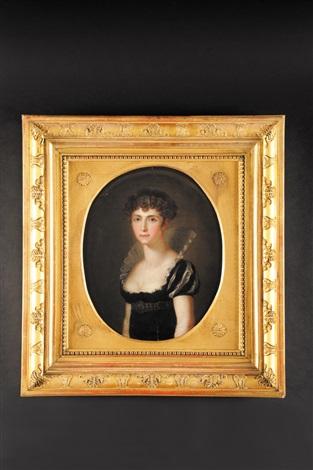 portrait stéphanie de beauharnais princesse de bade by conrad geiger