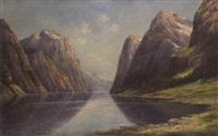 the tanafjord at norway by theodor ludwig adam restorff