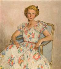 portrait de dame (mme. van der swalm) by léon de smet