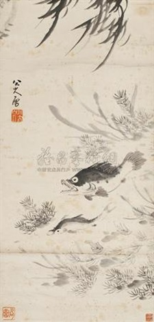 鱼 fish by bada shanren