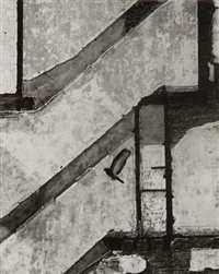 pigeon en vol, new york by andré kertész
