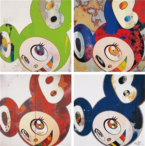 and then and then gargle glop and then and then kappa and then when thats donei change what i was yesterday and and then x6 blue 4 works by takashi murakami
