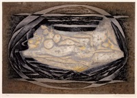 la demoiselle a la licome (+ strand, smaller; 2 works) by marcel fiorini