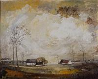 paysage hivernal by mija