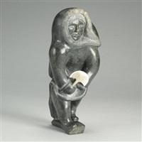woman with ulu by eyeetsiak peter