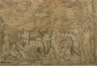 the triumph of bacchus (on 2 joined sheets) by italian school (16)