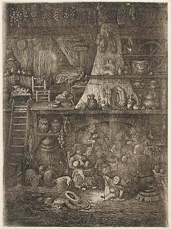 interieur de paysans de la haute garonne by rodolphe bresdin