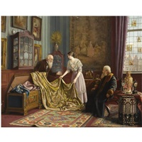 at the antique dealer's shop by carl johann spielter