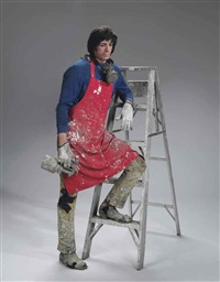 artist with ladder by duane hanson