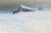 february blizzard by orestes (rick) nicholas de grandmaison